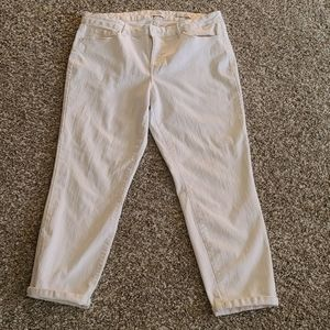 Jessica Simpson White Rolled Crop Skinny Jeans